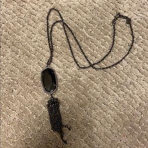 BLACK OUT KS tassel necklace 🔲🔳